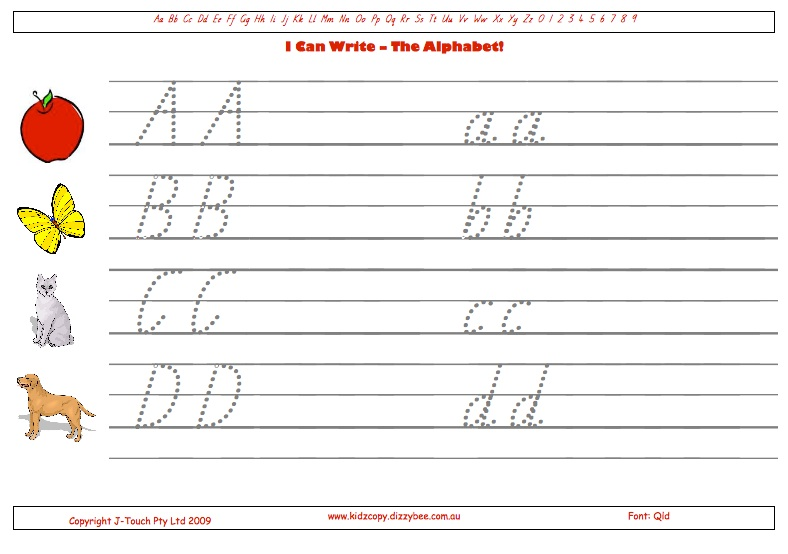 I Can Write - The Alphabet! | KidzCopy