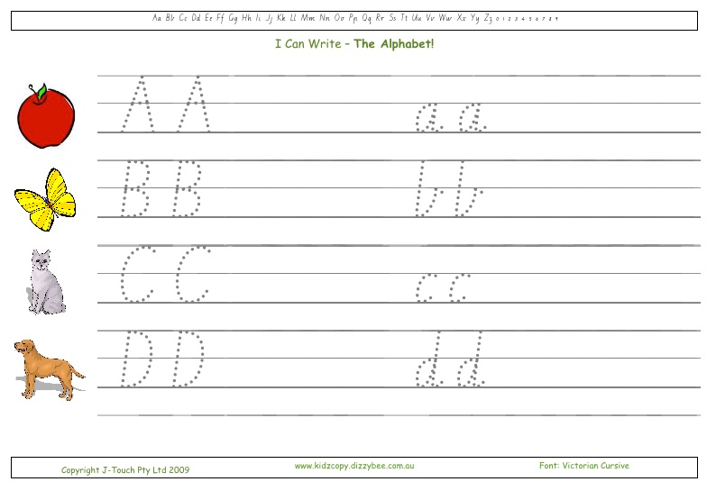 Number Names Worksheets : how do you write the alphabet in cursive ...