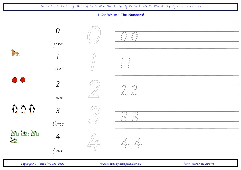 Worksheets How To Write Numerals i can write the numbers kidzcopy click to view larger picture